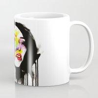 leia Mugs featuring Leia by Robert Ekblom