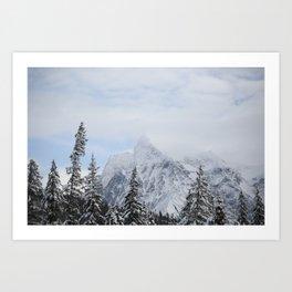 Man and Mountains Art Print