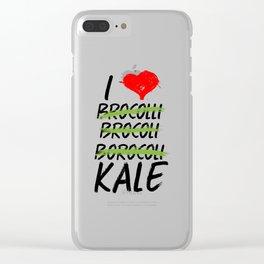 Kale Art for Vegans, Vegetarians n Broccoli Lovers Light Clear iPhone Case