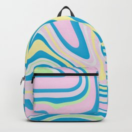 Pastel Marbling Art Backpack
