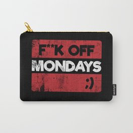 F**K OFF MONDAYS ;) RED GRUNGE Carry-All Pouch