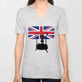 Union Jack and Paraffin pressure stove Unisex V-Neck