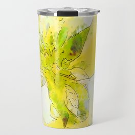 Pale Yellow Poinsettia 1 Serene Travel Mug