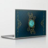 monogram Laptop & iPad Skins featuring Monogram J by Britta Glodde