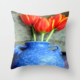 Elephantine Tulips Throw Pillow