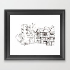 Oxford evening Framed Art Print
