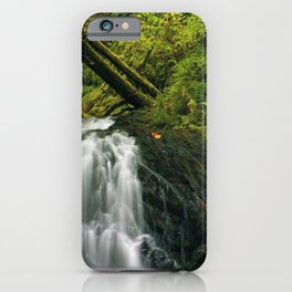 lake usa stones latourell oregon waterfall forest iPhone Case