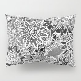 Chalkboard Flowers (Night Version) Pillow Sham