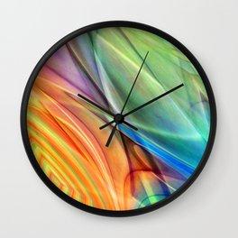multicolored abstract no. 52 Wall Clock