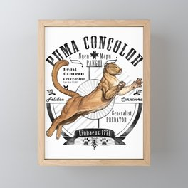 Old School Puma Facts Framed Mini Art Print