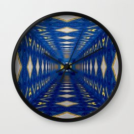 3D Concentric blue Wall Clock