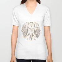 dreamcatcher V-neck T-shirts featuring Dreamcatcher by Julia