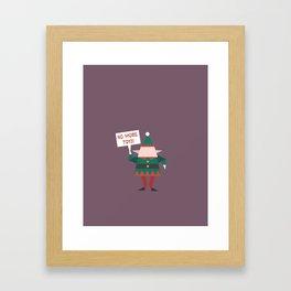 Little Helpers on Strike (Patterns Please) Framed Art Print
