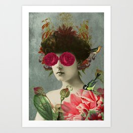 the only girl i ever loved was born with roses in her eyes. Art Print