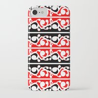 maori iPhone & iPod Cases featuring  Maori Kowhaiwhai Traditional Pattern  by mailboxdisco