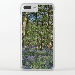 Bluebells in the woods Clear iPhone Case