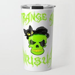 "Creepy yet attractive tee design made for you! ""Strange And Unusual"" Makes a unique gift too!  Travel Mug"
