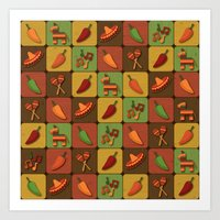 mexican Art Prints featuring Mexican Squares by Matt Andrews