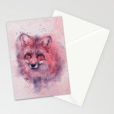 Red fox art Stationery Cards