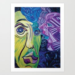 Faces of Color Art Print