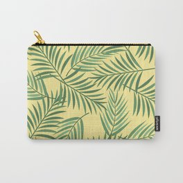 Tropical Palmetto Leaves with Yellow Carry-All Pouch