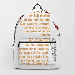 Saint Michael shirt for men prayer catholic church Backpack