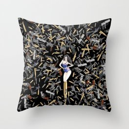 Bullet Girl Throw Pillow