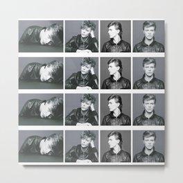 Monochrome Magnificence: Bowie Metal Print