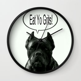 Riggo Monti Design #18 - Eat Yo Grits! Wall Clock