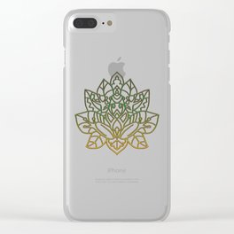 Frog Mandala Clear iPhone Case