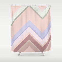Baesic Chevron (Earthtones) Shower Curtain