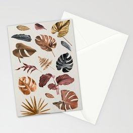 Metallic Plants Stationery Cards