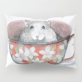 Rat in a cup Pillow Sham
