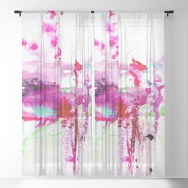 A Mystic Encounter No.1d by Kathy Morton Stanion Sheer Curtain
