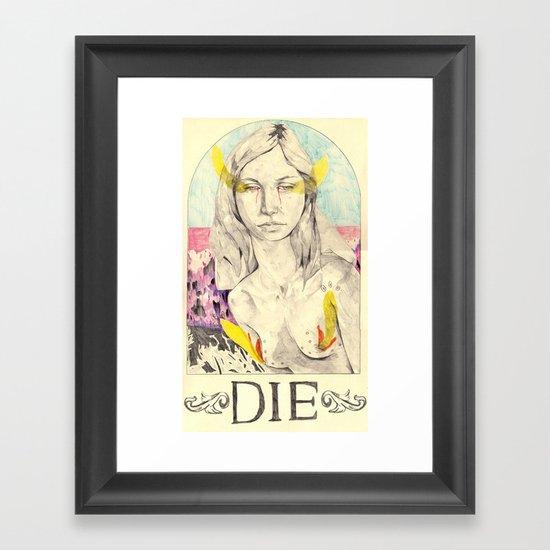 DIE Framed Art Print