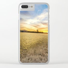 fishing on the california delta Clear iPhone Case