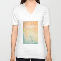 map V-neck T-shirts featuring map by Ingrid Beddoes