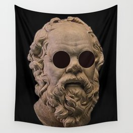 Classical Socrates With sunglasses Wall Tapestry