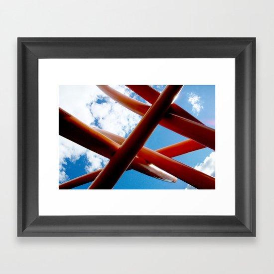 Sky Piping  Framed Art Print