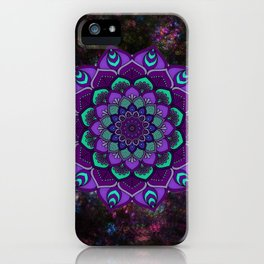beauty mandala in purple iPhone Case