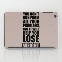 workout iPad Cases featuring Lab No. 4 - It will help you lose weight Gym Workout Quotes Poster by Lab No. 4