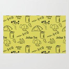Yellow Joshua Tree Print Rug