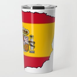 Spain Map with Spanish Flag Travel Mug