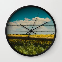 Fence Line Wall Clock