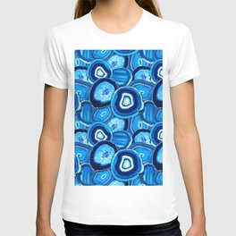 Geode Slices No.1 in Aquamarine + Sapphire Blue T-shirt