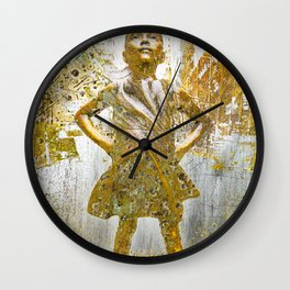Rise Fearless Girl Future Is Female Wall Clock