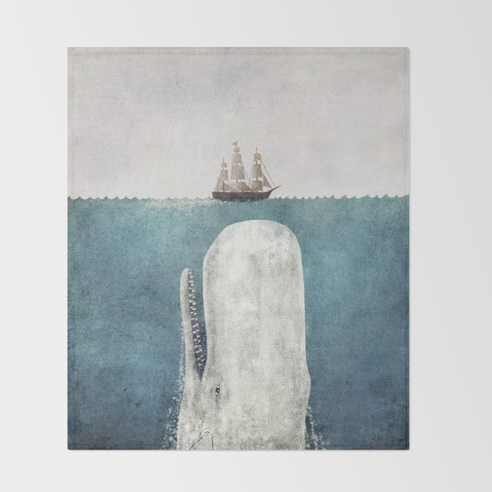 The Whale - vintage Throw Blanket