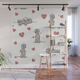Broken hearted Voodoo Dolls Wall Mural