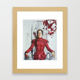 "Katniss Everdeen Mockingjay Part 2 ""I Kill Snow"" | Drawing Framed Art Print"