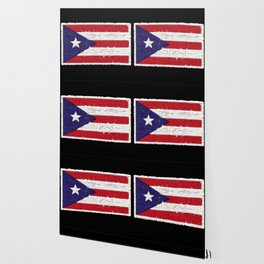 Puerto Rican flag with distressed textures Wallpaper